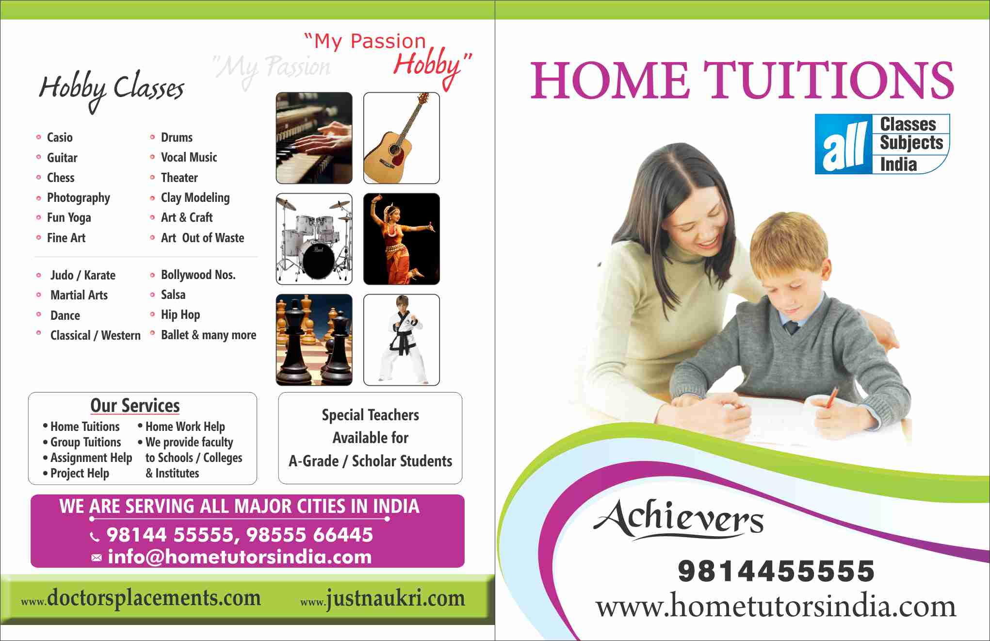 Home Tutors India - Brochure - Click to view enlarge